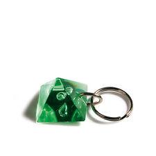 Gadget portachiavi porta chiave in plastica a forma PIRAMIDE verde trasparente