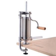 Poussoir A Viande 1.5L Machine à saucisse Inox Viande hachée  avec 4 x Tubes