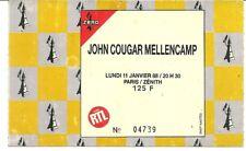 RARE / TICKET CONCERT - JOHN COUGAR MELLENCAMP : LIVE A PARIS ( FRANCE ) 1988
