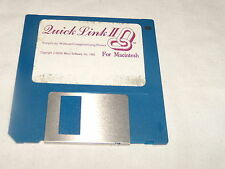 Quick Link II for Macintosh (1992) 3.5 floppy disk