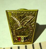 FOE Fraternal Order of Eagles BUILDERS Pin Vintage  Soaring Eagle