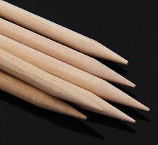 10PCS ORANGE WOOD STICK PUSHER PEDICURE REMOVER Cuticle Manicure NAIL ART x10PC