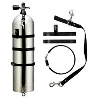 Dive Cylinder Stage Kit with Adjustable Bands and 2 Stainless Clips 5,7,10,12L