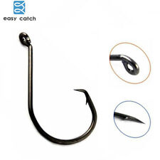 300pcs Black High Carbon Steel Hook 7384 Strong Offset Sport Circle Fishing Hook