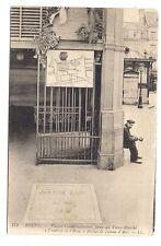 rouen  plaque commémorative ,place du vieux marché