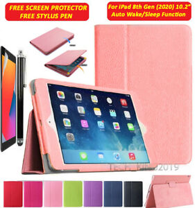 """For Apple iPad 8th Generation 10.2"""" (2020) Leather Flip Stand Case Cover"""