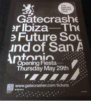 OPENING 29/05/14 & CRASHER 2014 @ GATECRASHER / EDEN - IBIZA CLUB POSTERS DJ