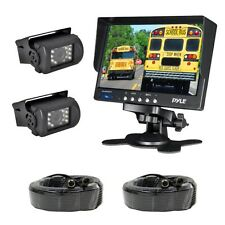 "NEW Pyle PLCMTR72 Weatherproof Backup Camera 7"" Monitor for Bus Truck Commercial"