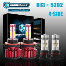4 Side H13 9008 LED Headlight Bulbs+H16 5202 Fog for Ford Escape 08-12 GMC Yukon