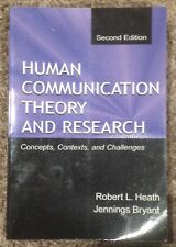 Human Communication Theory & Research, 2nd Ed, Robert Heath, Jennings Bryant