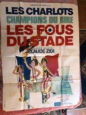 Grande Affiche de cinéma - Les charlots, les fous du stade,1972 Claude Zidi