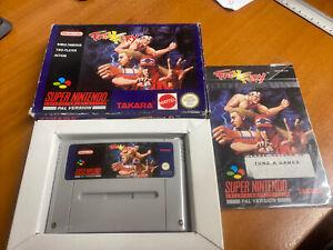 Fatal Fury Snes Super Nintendo Boxed PAL CIB