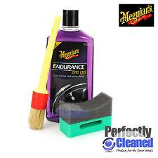 Meguiars Endurance Tyre Gel - 473ml, Brush and Crescent Shaped Applicator