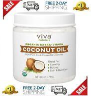 Aceite Coco Extra Virgen De Cabello Organico Para La Piel El Cabello Natural NEW