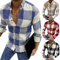 Herren Mode Langarmshirt Freizeit Slim Fit Oberteil Hemdbluse Hemden T-Shirt Top