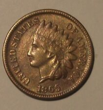 1865 INDIAN HEAD CENT CH AU  RARE HARD TO FIND IN HIGH GRADE
