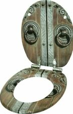 HIGH QUALITY WOOD WC TOILET SEAT   SOFT CLOSE HINGES   EASY TO MOUNT   WOOD