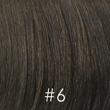 Short Light Brown Wavy Men's Full Wig Black/Gray/White