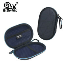 IKSNAIL Hard Bag Case For AirPods Charger USB Cable With Carabiners Black Cover