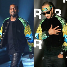 VERSACE H&M Men's Bomber Baroque Vintage Style Jacket Coat YEEZY KANYE WEST  XL