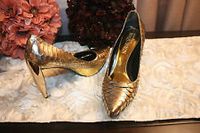 Alexander McQueen Gold Shoes Size 8