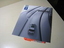 PEUGEOT 407SW Japanese Brochure 2005/06?? GH-D2BR GH-D2BRV