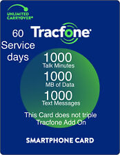 TracFone Refill Card 1000 Minutes/ 1000 Text/ 1GB Data 60 Service Days Plan