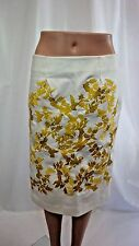 THAKOON Skirt Ivory Embriodered 100% Cotton Size 4