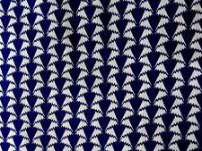 "LIBERTY ARTS FABRIC ""JONATHAN"" 69x136cm cotton tana lawn NAVY/WHITE"