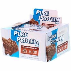 Gluten Free Pure Protein Bars, Chocolate Deluxe, 6 Count, Fast Shipping!
