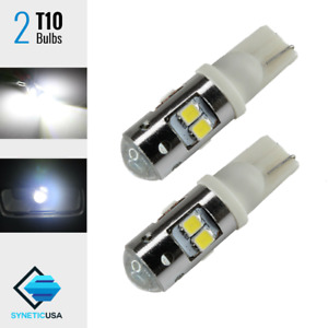 2X T10//192//917 Projector LED 35 Watts 1010LM White Backup Reverse Light Bulbs