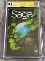 Saga #6 CGC 9.8 SS NM/M-Signed by Brian K. Vaughn-Image Comics