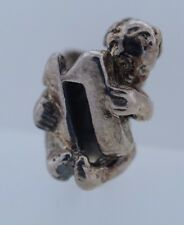 Authentic Trollbeads Retired Cherub Number 11 Bead 11322-11 New Silver Charm