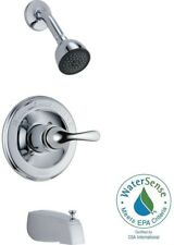 Delta 1-Handle Tub and Shower Bath Faucet Trim Kit - Chrome (Valve Not Included)