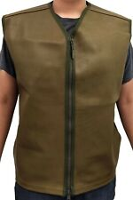 British Leather Combat Vest - Large/Extra Large