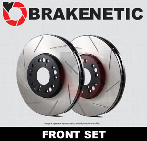 [FRONT SET] BRAKENETIC PREMIUM SLOTTED Brake Disc Rotors BNP40021.SS
