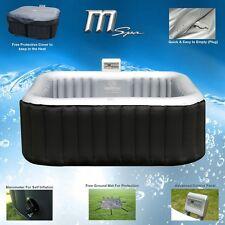 MSPA Alpine Luxury Inflatable 2+2 Square Portable Jacuzzi Hot Tub Spa System