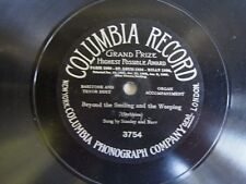Early Columbia Record Grand Prize-No.3754-Stanley & Burr-One Sided 78 RPM 1907
