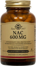 Solgar NAC 600mg 60 Vegetable Capsules