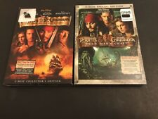 Pirates of the Caribbean Dead Man's Chest DVD 2006 2-Disc Set!2 Movies !! Sealed