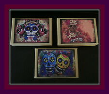 """THREE """" DAY OF THE DEAD"""" GIFT BOXES (SET OF THREE)"""