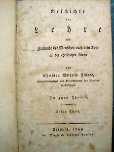 Geschichte der Lehre Christian Wilhelm Flügge 2in1 1799 PHILOSOPHIE KANT SELTEN