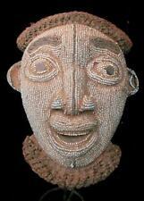 Antiguo Tribal bamileke con cuentas Máscara --- Camerún BN 14