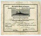 1944 US Navy Training Certificate Lend-Lease program for Soviet Navy Officer RAR