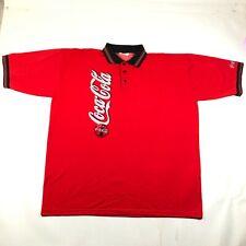 Vintage Riverside Coke Coca-Cola Polo Shirt Mens 3XL Red Black Uniform Collared