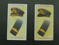 cigarette card Wills Naval Dress & Badges 1909 #28 Staff Paymaster 2 Variation2