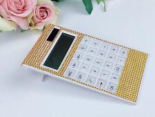 Blingustyle Crystal Diamante Bling 12 Digit Dual Power Slim Calculator gift G