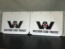 "2 x New Genuine Western Star Logo Anti Spray Plastic Truck Mudflaps 24"" x 18"""