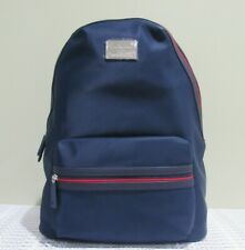 TOMMY HILFIGER Nylon Backpack NWT Navy Blue/Red Unisex OS/TU Style 6935760-423