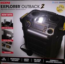 ION Explorer Outback 2 Bluetooth Water Resistant Speaker System NEW